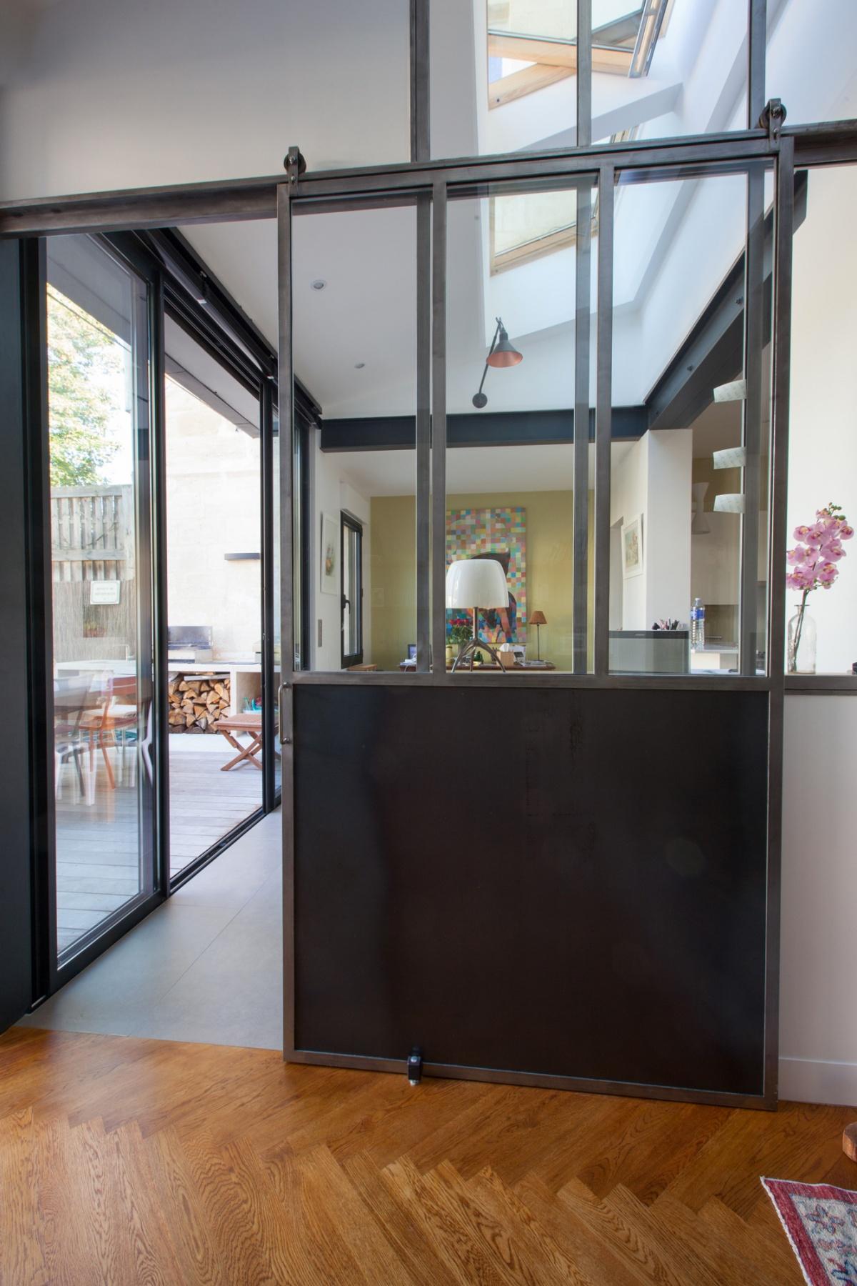 Maison C : Vue porte extension