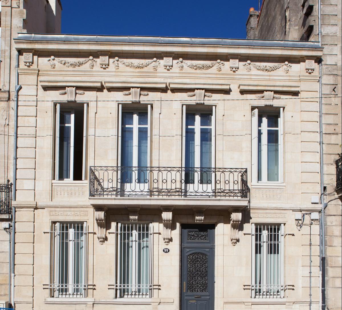 Maison C : Vue façade rue