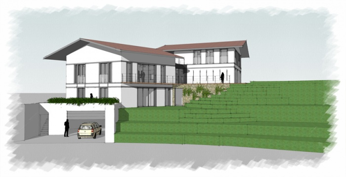 Rénovation + extension d'une villa sur la côte Basque