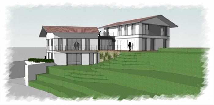 R novation extension d 39 une villa sur la c te basque bidart - Architecture maison basque ...