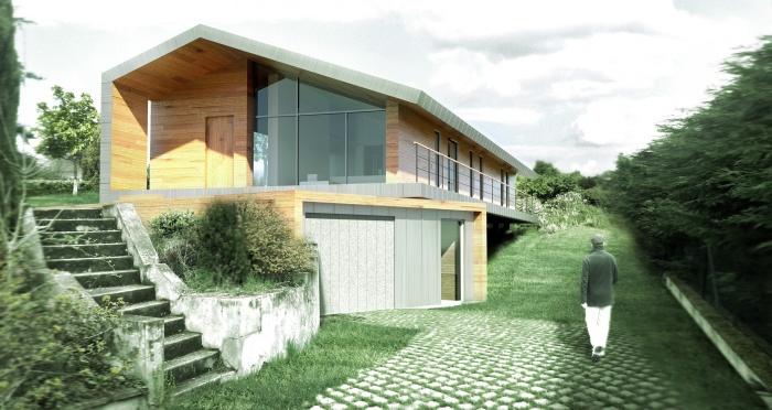 maison individuelle taluyers rh ne sur bayonne la c te basque. Black Bedroom Furniture Sets. Home Design Ideas