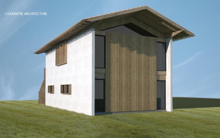 Maison contemporaine basque : 2