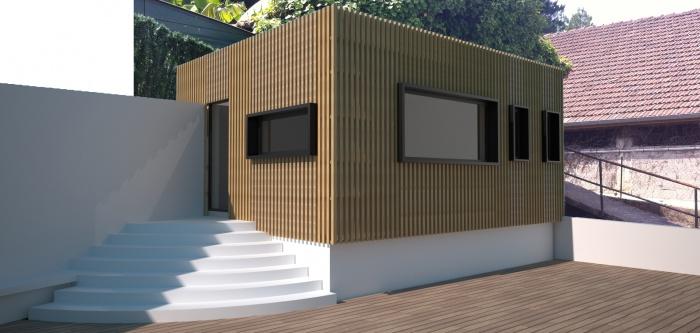 Réhabilitation d'un garage en chambre d'ami et création d'un studio