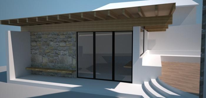 Réhabilitation d'un garage en chambre d'ami et création d'un studio : Le studio