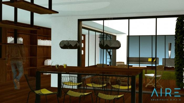 Maison de ville +patio : V1