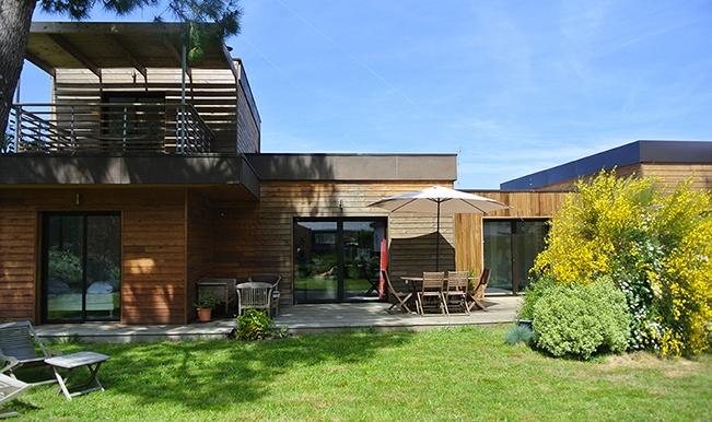 Maison individuelle ossature bois : Maison éco Seignosse Merlateau architecte 5