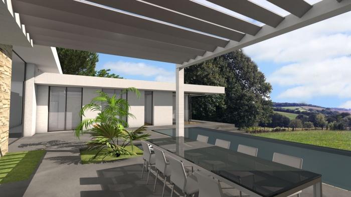 villa de luxe toit terrasse sur le golf de saint jean de luz saint jean de luz une. Black Bedroom Furniture Sets. Home Design Ideas