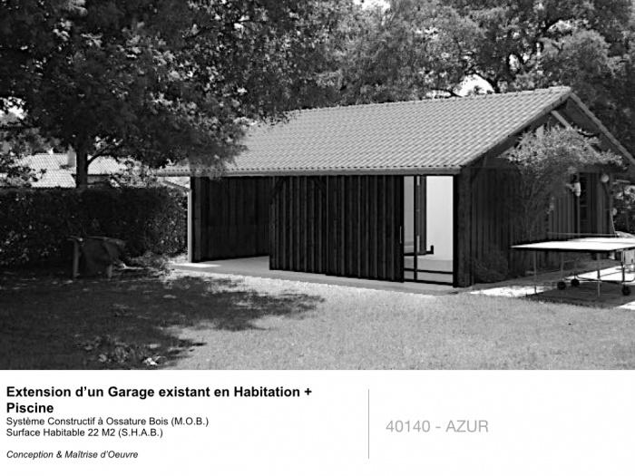 Extension d'un Garage éxistant