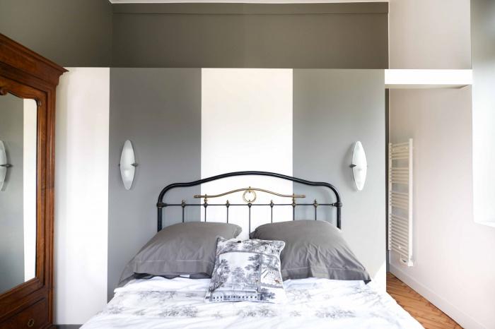 rénovation habitation et locaux professionnels : chambre à rayures