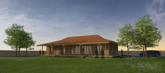 Maison bois à Lége-Cap ferret