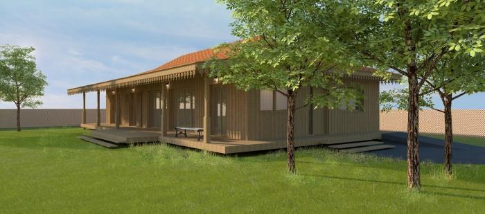 Maison bois à Lége-Cap ferret : WEB_LEGE maison bois PERS 03