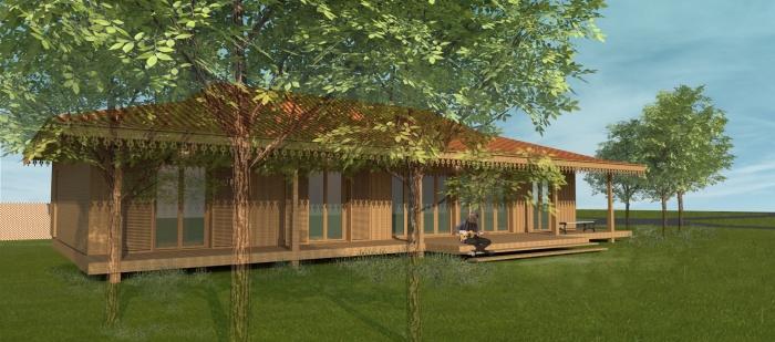 Maison bois à Lége-Cap ferret : WEB_LEGE maison bois PERS 01