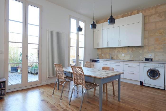 Réhabilitation complète appartement 3 pièces, et création d'une terrasse, quartier des Chartrons à Bordeaux. : réhabilitation appartement bordeaux W04