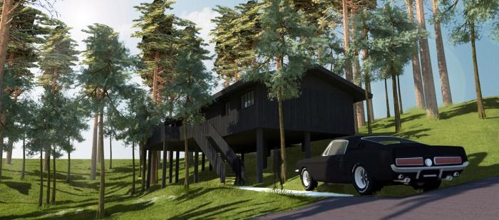 Villa 4 pièces, construction à ossature bois
