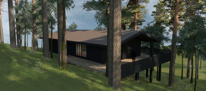 Villa 4 pièces, construction à ossature bois : W_Villa Biscarosse_PERS-02