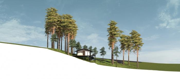 Villa 4 pièces, construction à ossature bois : W_Villa Biscarosse_COUPE