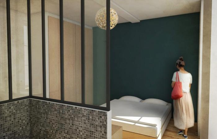 Réhabilitation d'un immeuble pierre à Bordeaux centre avec la création d'une terrasse : VUE 2 retouchée
