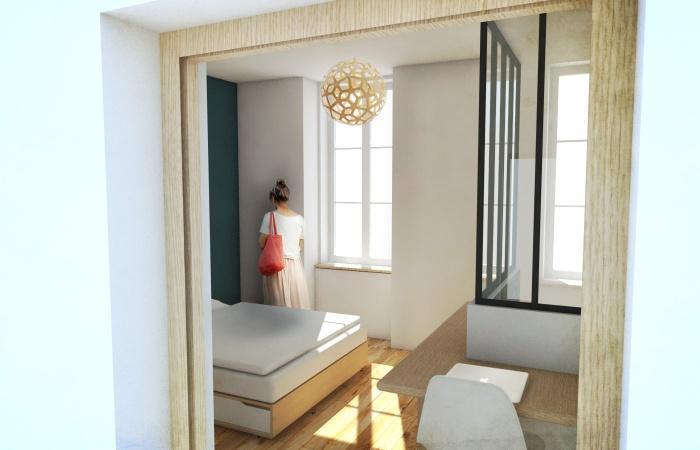 Réhabilitation d'un immeuble pierre à Bordeaux centre avec la création d'une terrasse : VUE 4 retouchée
